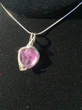 Load image into Gallery viewer, Natural Amethyst Bead Woven in Fine Silver