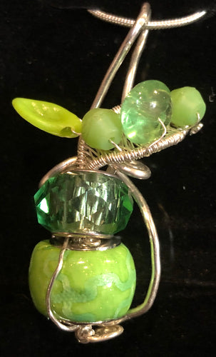 Green Apple with Fine Silver