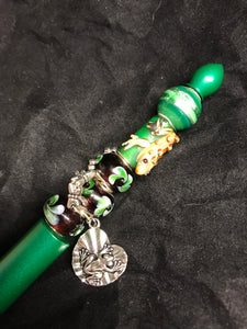 Frogs in the Pond Beaded Stylus