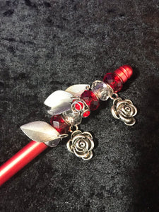 Red Roses Garden Beaded Stylus
