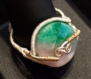 Watermelon Tourmaline in Fine Silver and Vermeil