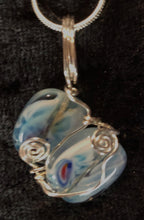 Load image into Gallery viewer, Ocean Waves Fine Silver Necklace and Earrings Set
