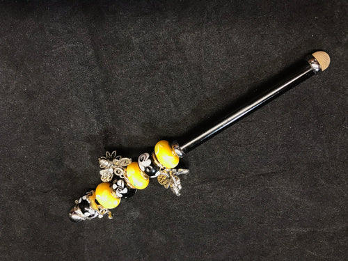 Sunflowers and Bees Beaded Stylus