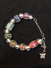 Load image into Gallery viewer, Rainbow Glass Bead Stainless Steel Bracelet I