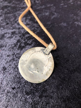 Load image into Gallery viewer, Vintage Pakistan Coin with Glass on Cotton Cord Necklace