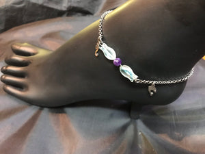 Kissing Fishes Simple Stainless Steel Anklet