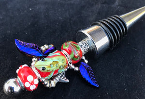 Frogs and Bees Bottlestopper
