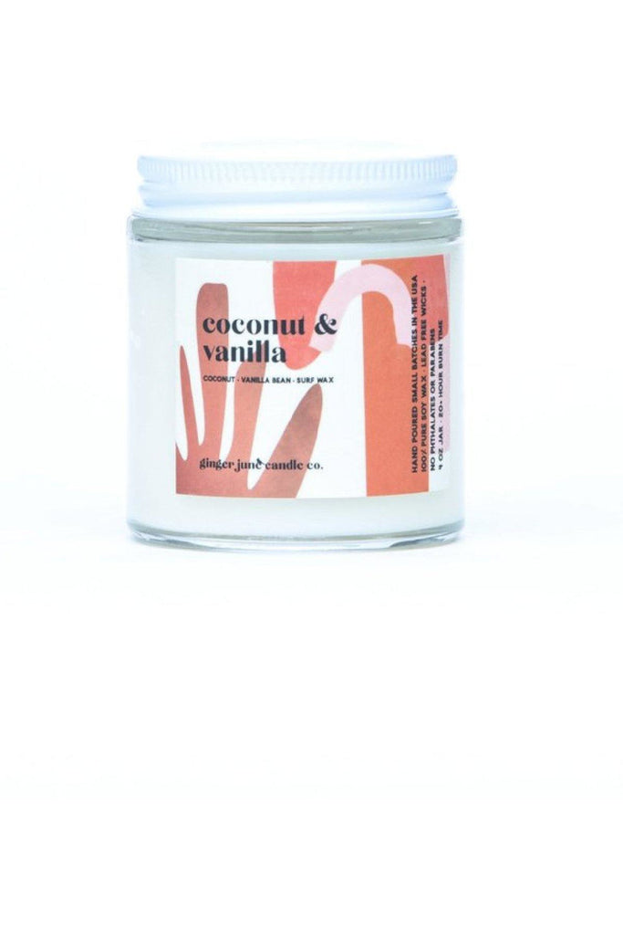 4 oz Coconut Vanilla Candle - late bird