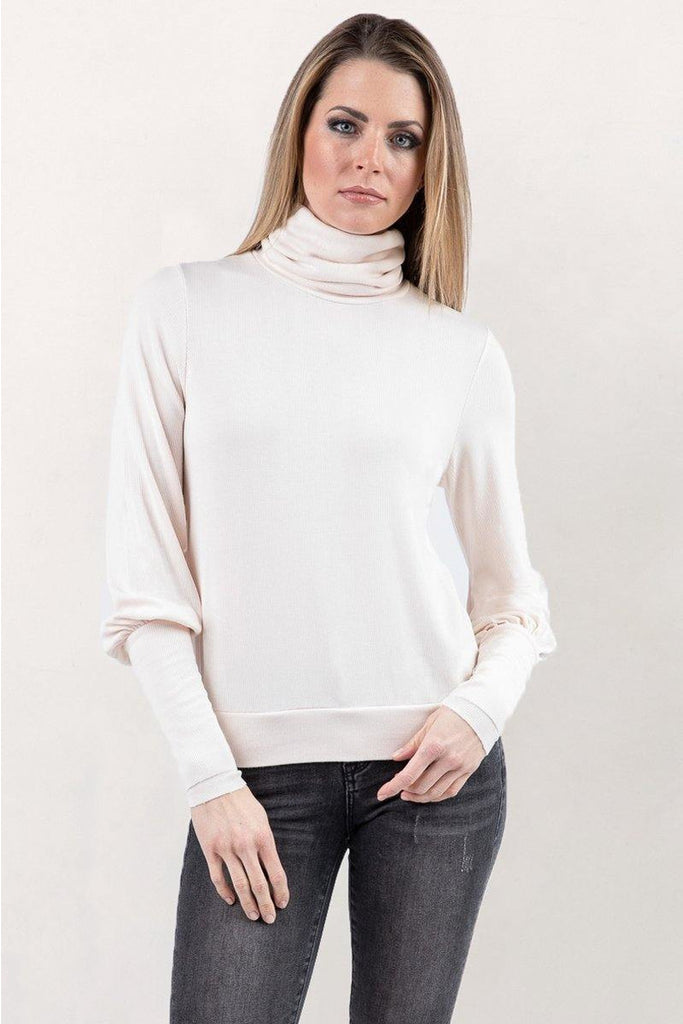 Alina Turtleneck in Angel Wing - late bird
