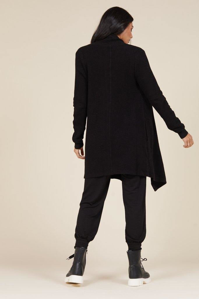 Aria Essential Cardi in Black - late bird
