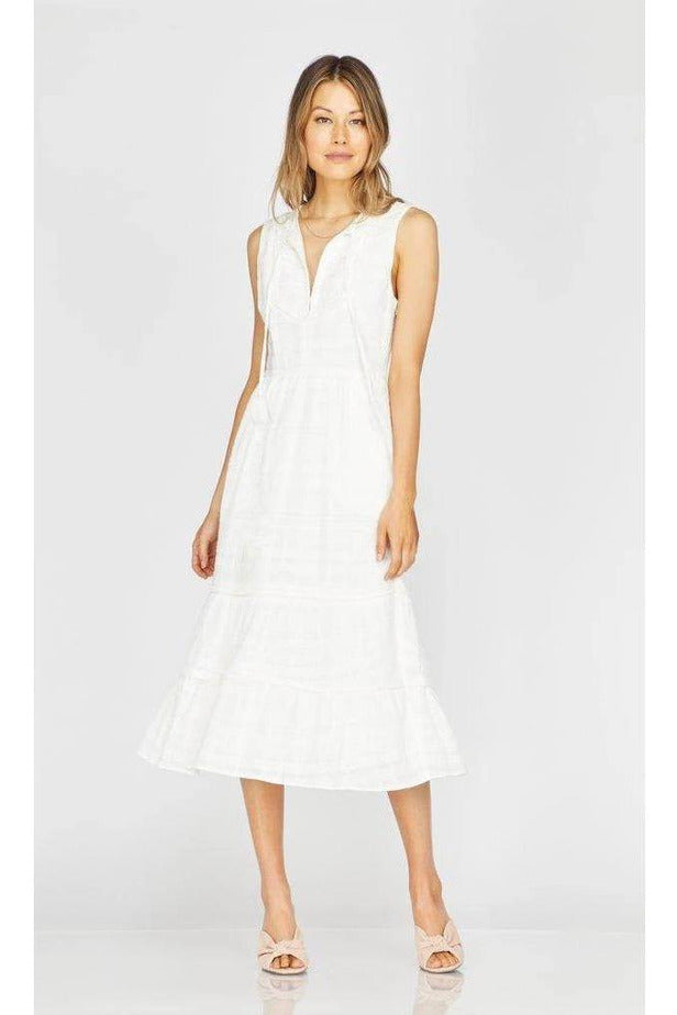 Celine Fringe Trim Midi Dress - late bird