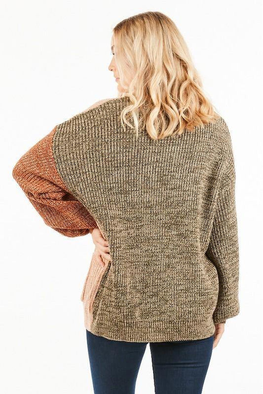 Colorblock Knit Cardigan - late bird