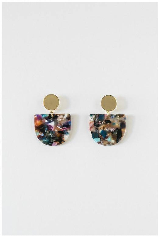 Confetti Mix Acrylic Tab Earring - late bird