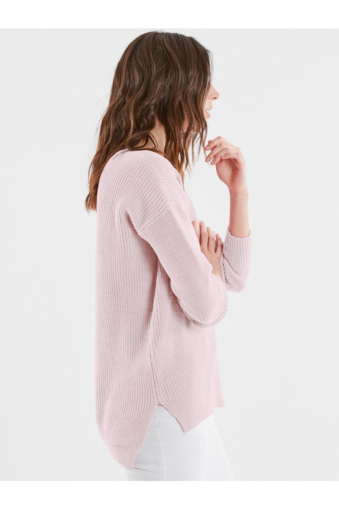 Cotton Boyfriend V-Neck Sweater - late bird