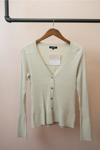 Fitted Rib Knit Cardigan - late bird