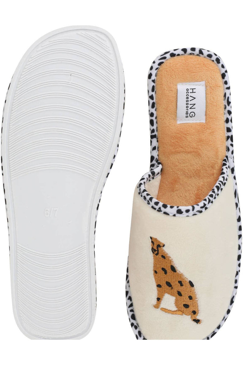 Foldable Cheetah Slippers - late bird