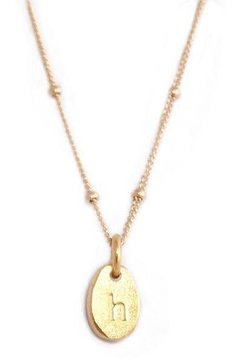 Gold Initial Necklaces - late bird
