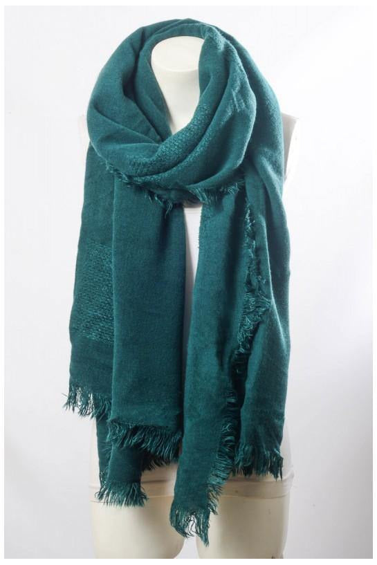 Green Grid Textured Scarf - late bird