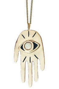 Hand Eye Coordinated Pendant Necklace - late bird