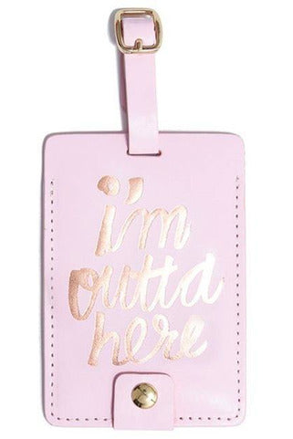 'I'm Outta Here' Luggage Tag - late bird