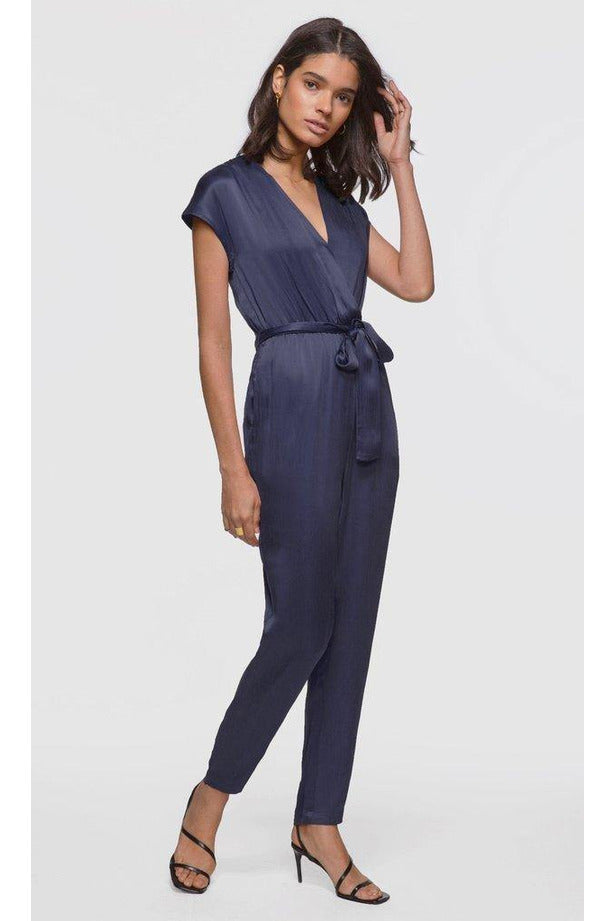 Inez Wrap Tie-Waist Jumpsuit - late bird