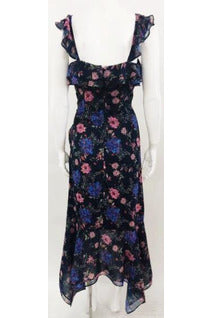 Izzy Floral Midi Dress - late bird