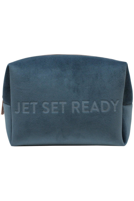 """Jet Set Ready"" Cosmetics Case (Large) - late bird"