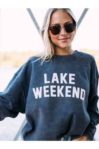 Lake Weekend Corded Sweatshirt - late bird