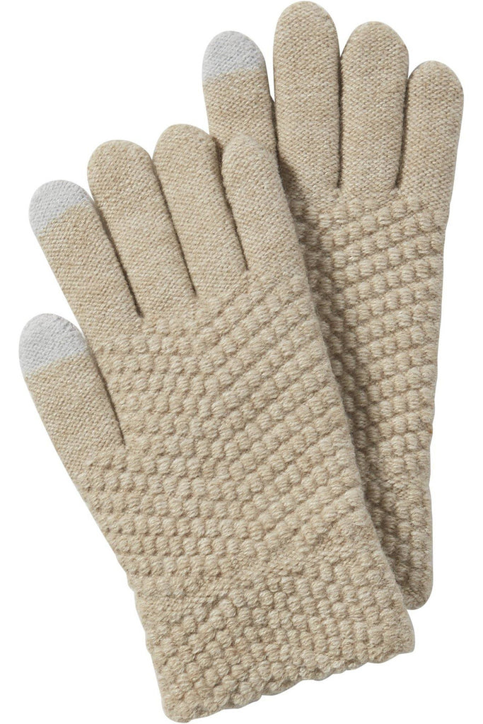 Lana Touchscreen Gloves in Beige - late bird