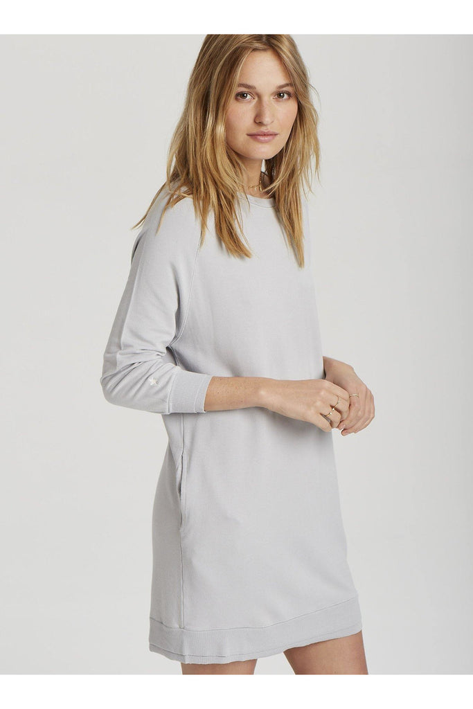 Linden Sweatshirt Dress in Light French Grey - late bird
