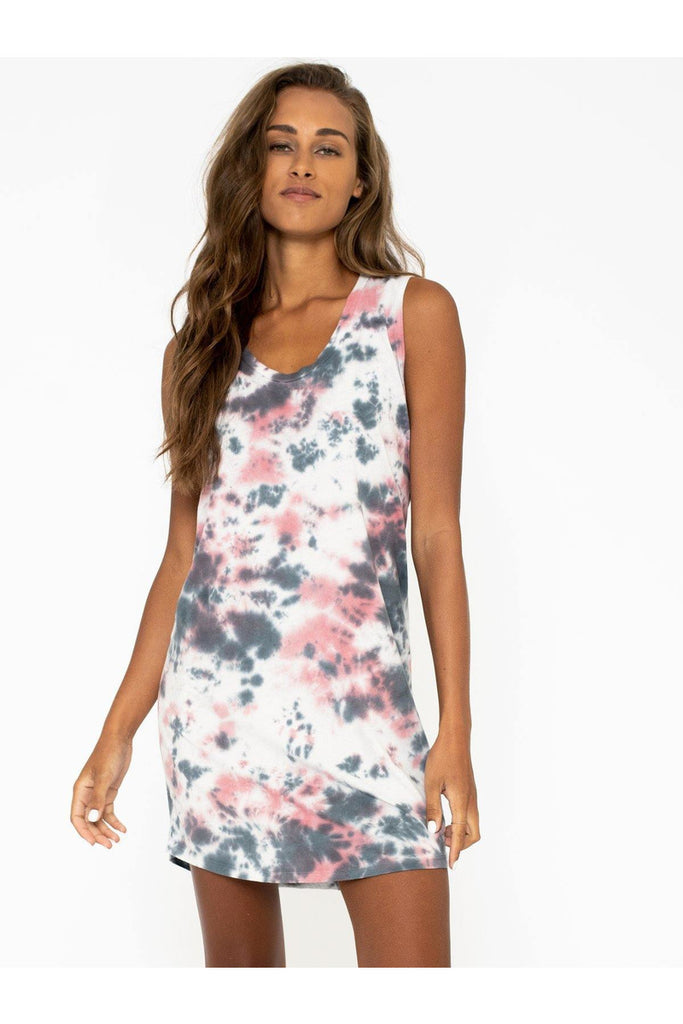 Marble Tie Dye Tank Dress - late bird