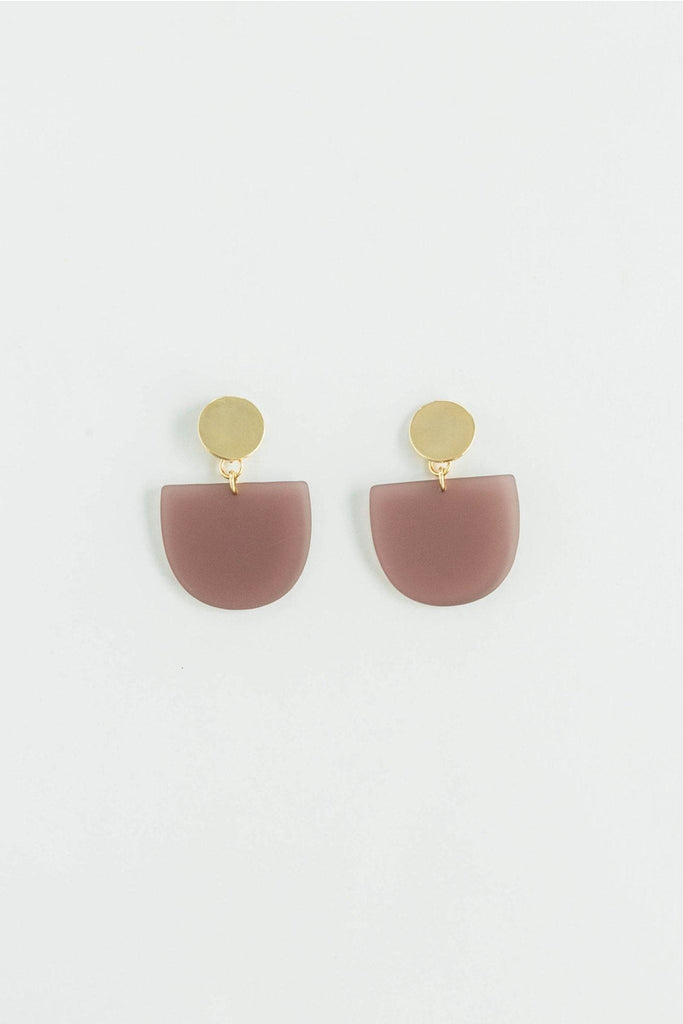 Matte Tab Earrings in Plum - late bird