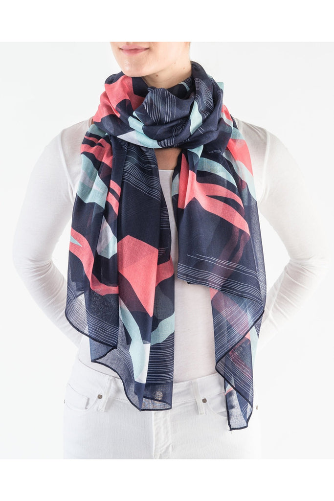 Midnight Peaks Scarf - late bird