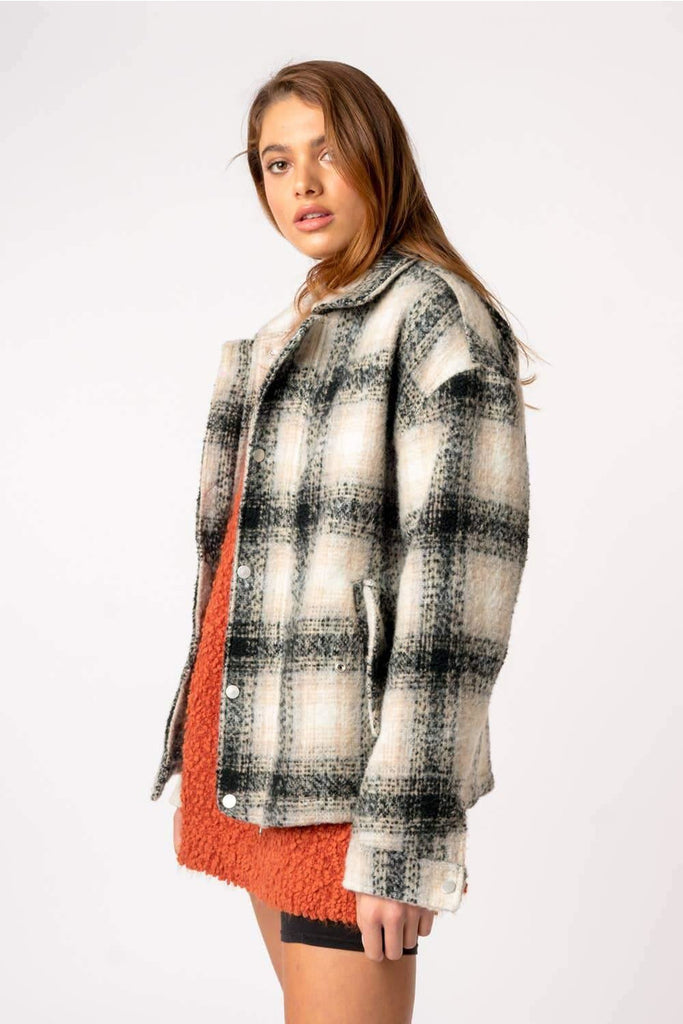 Mohair Snap Jacket - late bird