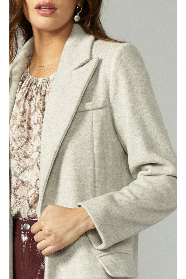 Ona Brushed Slim Coat - late bird