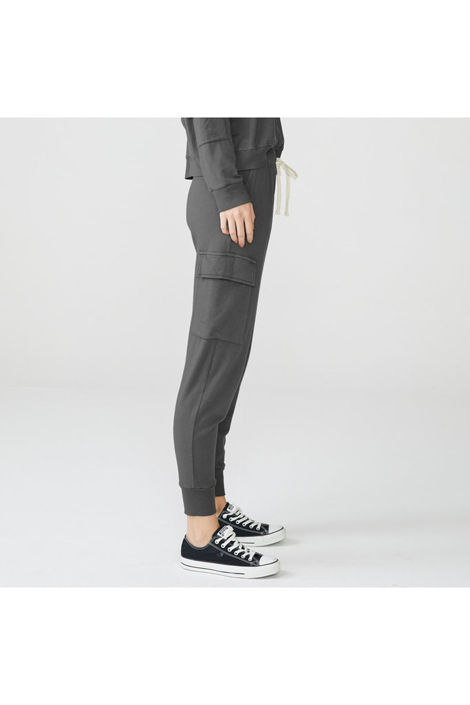 Patch Pocket Cargo Jogger in Vintage Black - late bird