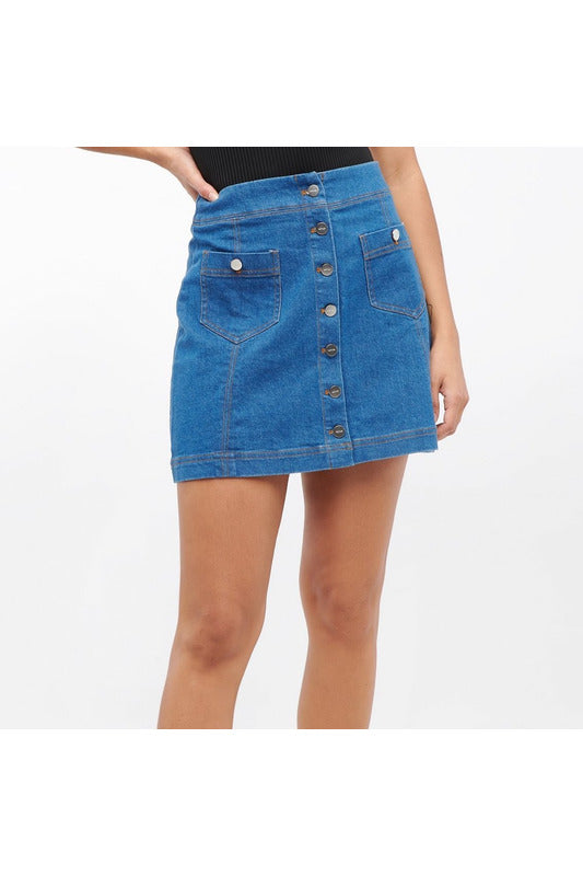 Persimmon Denim Miniskirt - late bird