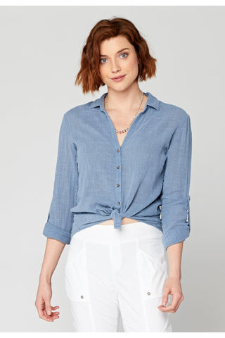 Porter Blouse in Cornflower - late bird