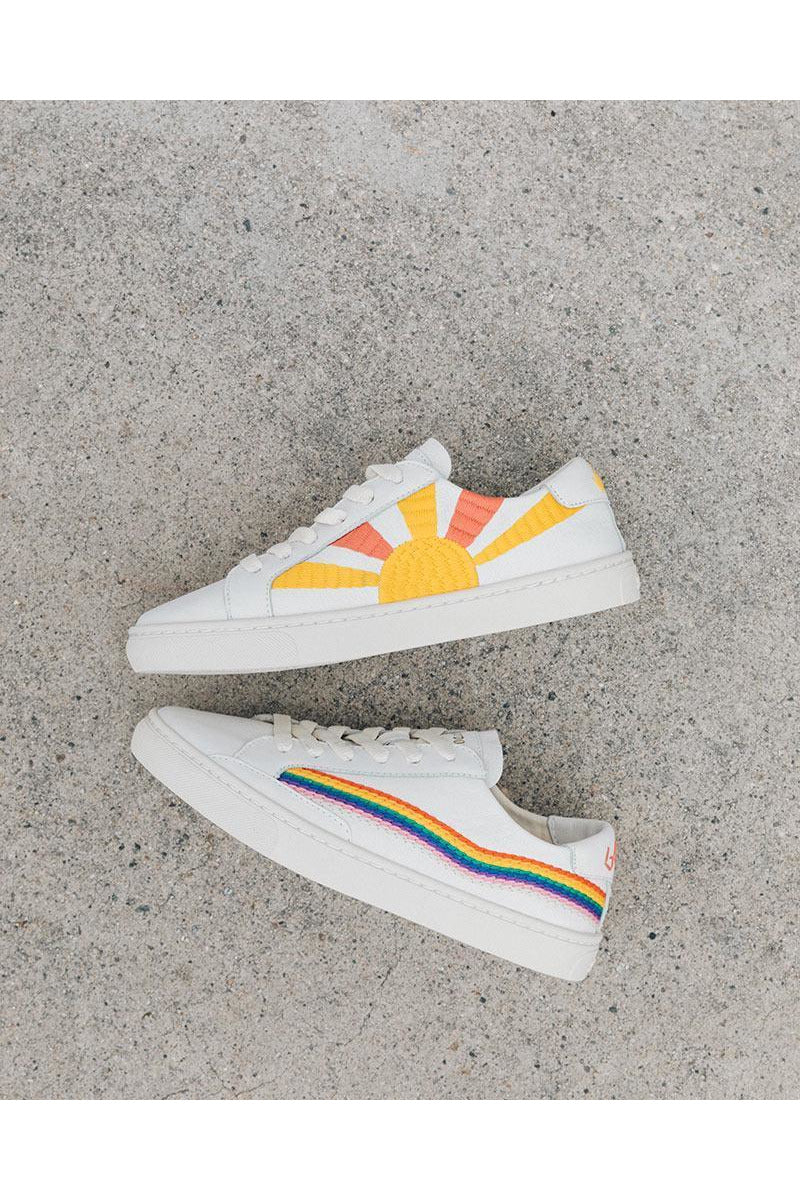 Rainbow Wave Sneakers - late bird