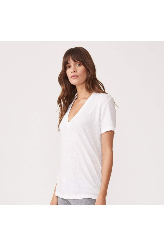 Relaxed V-neck Tee - late bird