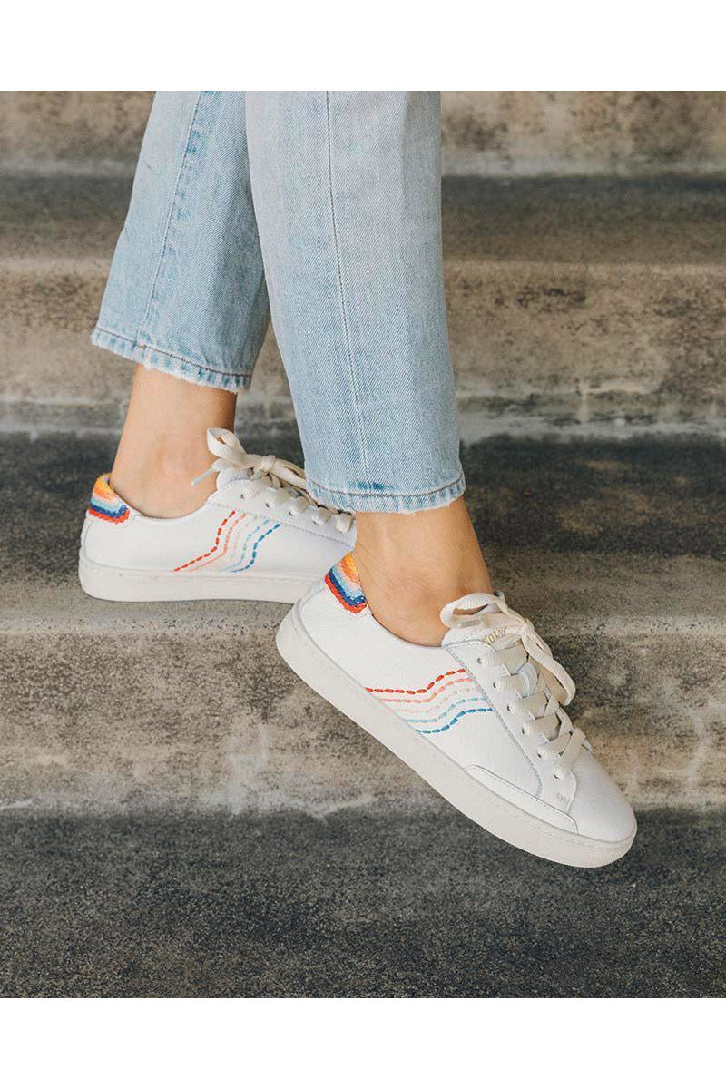 Retro Stripe Sneaker - late bird