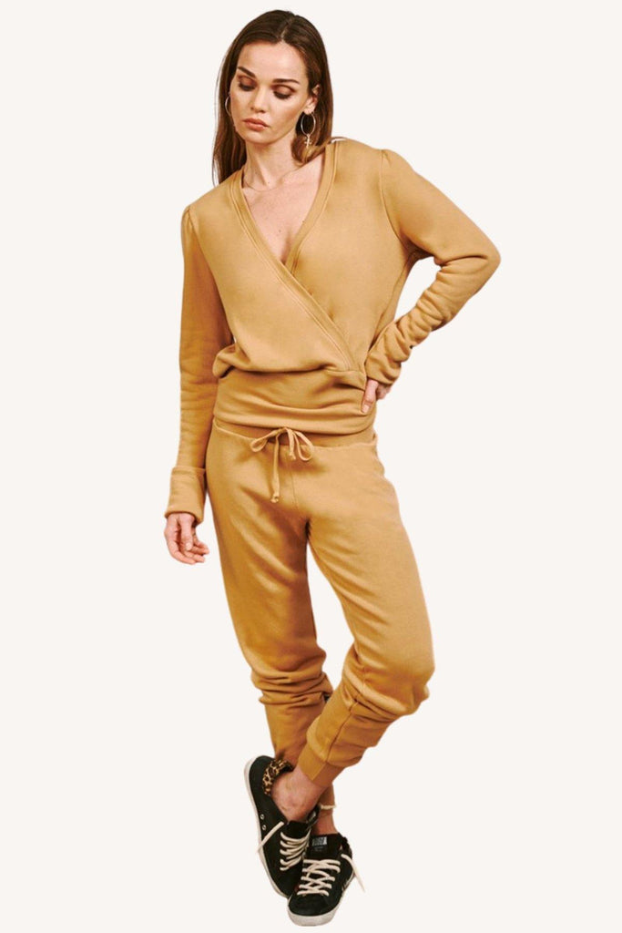 Slim Sweatpant in New Camel - late bird