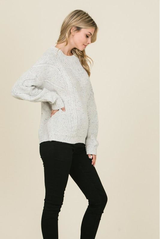Speckled Cabe Knit Sweater - late bird