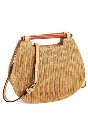 Straw Woven Crossbody - late bird