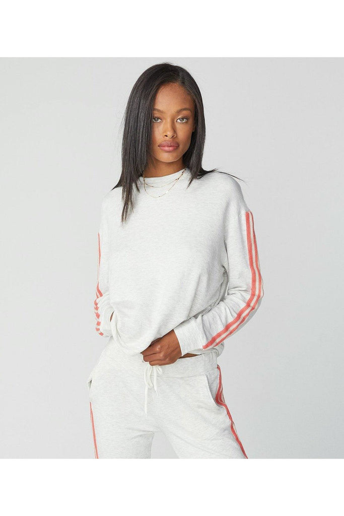 Supersoft Crochet Trim Boxy Sweatshirt - late bird