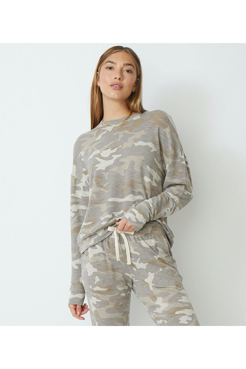 Supersoft Urban Camo Boxy Sweatshirt - late bird