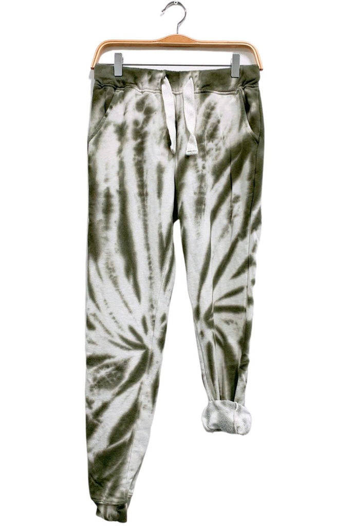 Tie Dye Sweatpants in Army - late bird