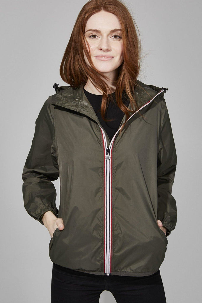 Turbo Rain Jacket in Army Green - late bird