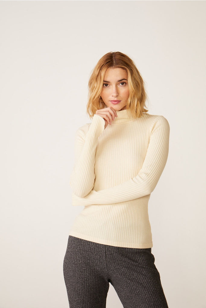 Turtleneck with Thumb Cutouts - late bird