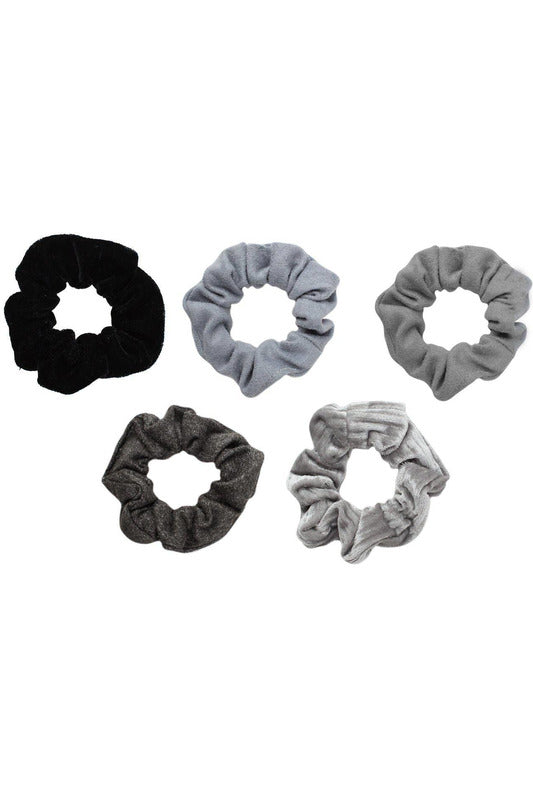 Velvet Scrunchie Set (Greys) - late bird